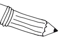 Free Printable Coloring Page: Pencil