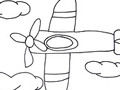 Free Printable Coloring Page: Small Plane