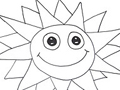 Free Printable Coloring Page: Sun