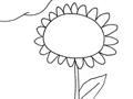 Free Printable Coloring Page: Sun Flower