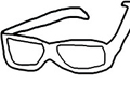 Free Printable Coloring Page: Sun Glasses