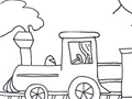 Free Printable Coloring Page: Train