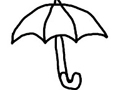 Free Printable Coloring Page: Umbrella