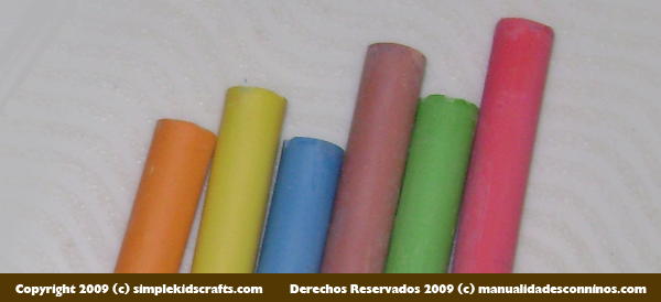 Children Arts and Crafts Recipe: Home-made colored chalk